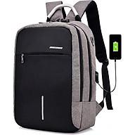 Balo laptop cao cấp chống trộm Có khóa CMI quai sắt có cổng sạt USB Shalla tặng cáp sạt thumbnail