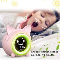 Bedside Digital Kids Alarm Clock Sleep Trainer Night Light Temperature thumbnail