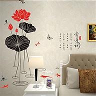 Decal dán tường nghệ thuật hoa sen cá AY896 thumbnail