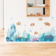 Decal trang trí chất liệu PVC loại 1 dày dặn, sắc nét, trang trí phòng cho bé, lớp mầm non- Chân tường cá cảnh - mã sp QR9076 thumbnail