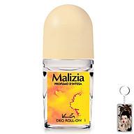 Lăn khử mùi hương vani Malizia Vanilla 50ml (nữ) tặng kèm móc khóa thumbnail