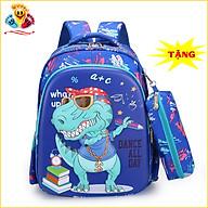 Balo khủng long cho bé trai đi học lớp 1 tiểu học hình in nổi 3D sinh động đáng yêu (Tặng hộp bút như hình) E405 thumbnail