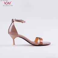 Sandal cao gót nữ, chiều cao gót 5CM, da Tổng hợp bóng quai ngang PVC, êm ái, bền chắc và thời trang. Mũi Vuông, gót Vuông Mica trong suốt, sang trọng và chắc chắn, thiết kế hiện đại, tinh tế, thời trang SD.N7.5F thumbnail