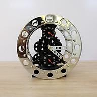 Đồng hồ đặt bàn bánh răng màu bạc thumbnail
