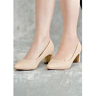 Giày Cao Gót Nữ Vasmono Đế Vuông Thời Trang V015041 thumbnail