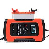 Máy sạc bình ắc quy 12V 100Ah thông minh tự ngắt khi đầy có chức năng khử sunfat bảo dưỡng phục hồi ắc quy có quạt tản nhiệt thumbnail
