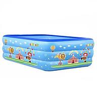 Bể bơi phao trong nhà hình chữ nhật đủ kích thước 150cm-135cm-180cm-210cm, bể bơi cho bé, bể bơi chất lượng tốt thumbnail
