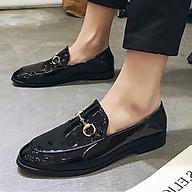 Giày Lười Da Phối Khóa Kim Loại, Đế Cao Lịch Lãm thumbnail
