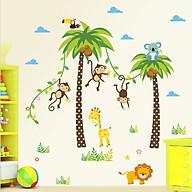 Decal dán tường cho bé - Đàn khỉ ngộ nghĩnh - DC005 thumbnail