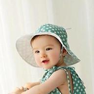 Bộ liền và mũ dành cho bé gái hoạ tiết chấm bi thumbnail