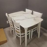 Bộ bàn ăn Cabin bàn giả đá 1m2 1m6 kèm 4 ghế 6 ghế cabin thumbnail