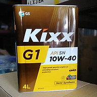 Dầu nhớt bán tổng hợp Kixx G1 10W-40 API SN CF thùng thiếc 4 lít thumbnail