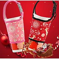 Túi vải treo ly cafe, trà sữa có quai xách mang đi đa năng - họa tiết đẹp cute cho nữ thumbnail
