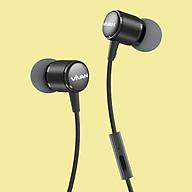 Tai nghe nhét tai có dây Jack cắm 3.5mm Vivan Có Mic Microphone Cho iOS Apple (iPhone iPad), Android (Samsung, Sony, Xiaomi, Huawei, Oppo) Màu Đen Xám - Q11 - Hàng Chính Hãng thumbnail