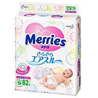 Bỉm dán MERRIES size S82 thoải mái vận động, siêu thấm hút (từ 4-8kg) 82 miếng - Nội địa Nhật Bản thumbnail