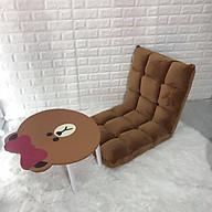 Ghế Lười Tựa Lưng Tatami 5 Cấp Độ - Nâu thumbnail