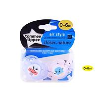 Ty ngậm thoáng khí cho bé Tommee Tippee AIR 0-6 tháng (vỉ 2 cái) - Tím Hồng thumbnail