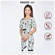 Đầm công sở chất liệu Lụa in họa tiết dáng suông ngắn tay FDC52758 - PANTIO thumbnail