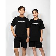 Áo phông form rộng tay lỡ Unisex - Stronger - Midori thumbnail