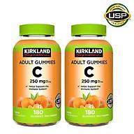 Kẹo Dẻo Vitamin C 250mg Kirkland Adult Gummies 180v Của Mỹ - Combo 2 Hộp Giúp Tăng Cường Sức Đề Kháng và Miễn Dịch, Trắng Sàng và Chống Lão Hóa Da thumbnail