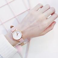 Đồng hồ thời trang nữ V789 mặt tròn dây da nhung thumbnail