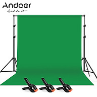 Andoer 2 3m 6.6 10ft Studio Photography Green Screen Backdrop Background Washable Polyester-Cotton Fabric with 2 thumbnail