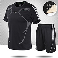 Bộ quần áo thể thao nam ngắn tay nhanh khô thể dục thể thao thoáng khí - NB001 thumbnail