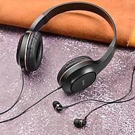 Tai nghe chụp tai Hoco W24 có dây kèm tai 3.5 - Hàng chính hãng thumbnail
