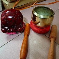 Combo bộ Chuông mõ rẻ loại dày đường kính 9cm - 10cm - 12cm - 15cm tặng đế dùi thumbnail