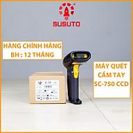Máy quét mã vạch cầm tay có dây đơn tia CCD 1D SC-750 - HÀNG CHÍNH HÃNG thumbnail