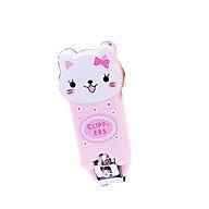 bấm móng tay hình con mèo hồng thumbnail