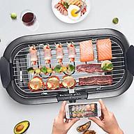 Bếp nướng điện không khói thông minh có thể nướng than hoa, dùng trong nhà hoặc bên ngoài bằng cách lắp tháo chân tiện lợi thumbnail