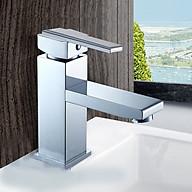 Vòi lavabo nóng lạnh đồng thau mạ crome 201 thumbnail