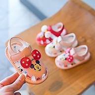Giày tập đi cho bé gái đế mềm chống trơn trượt, phát tiếng kêu chip chip dành cho bé từ 6 đến 18 tháng G32 thumbnail