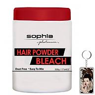 Bột rửa màu tóc nhuộm Sophia Platium Hair Powder Pleaching Hàn Quốc 550g tặng kèm móc khoá thumbnail