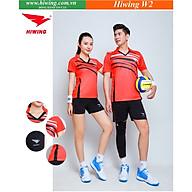 Bộ quần áo cầu lông cao cấp thương hiệu HIWING W2 màu đỏ thumbnail