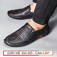 Giày Lười Nam Giày Mọi Nam Da Bò Thoáng Khí UDANY Giày Dành Riêng Cho Mùa Hè Cực Đẹp - GLN27 thumbnail
