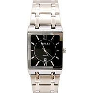Đồng hồ Nam Halei - HL564 Dây trắng mặt đen (Tặng pin Nhật sẵn trong đồng hồ + Móc Khóa gỗ Đồng hồ 888 y hình) thumbnail