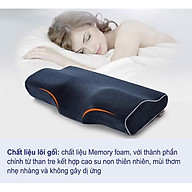 Gối Memory Latex Pillow-Caro Xanh Trắng-50cm 30cm-Gối Cao Su Non-Hàng Nội Địa Nhật Bản thumbnail