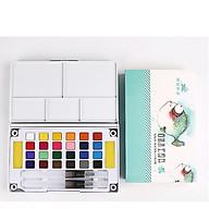 Bộ Màu Nước Water Color Cao Cấp 12 18 24 36 Màu Tặng Bút Nước, 2 Mút, 1 Palette thumbnail