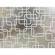 Decal dán kính ô vuông trắng - decal dán kính phòng khách - phòng ngủ - khách sạn DK55 thumbnail