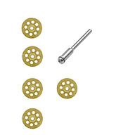 5 đĩa cắt đa năng có lỗ cao cấp cắt đá cắt kính cắt ngọc cắt kim loại mỏng mạ titanniun vàng- lưỡi cắt chân cốt 3ly thumbnail