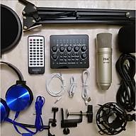 Bộ thu âm live stream Sound card V10 bluetooth và Mic ISK AT-100 hàng chính hãng đầy đủ phụ kiện thumbnail