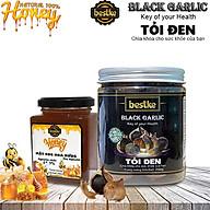Tỏi đen lên men tự nhiên và mật ong 100% nguyên chất tự nhiên bestke hộp 250g+200ml thumbnail