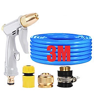 Bộ dây vòi xịt nước tưới cây rửa xe,tăng áp 3 lần, loại 3-5m (cút nhựa nối đồng nhựa) 206846 thumbnail