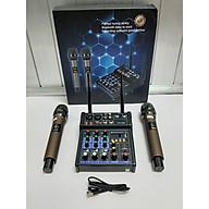 Bàn trộn Mixer Yamaha G4 USB Chuyên dùng livestream, karaoke gia đình Có màn hình led Kèm 2 micro không dây Dùng được cho loa kéo, loa ô tô, dàn karaoke gia đình, livestream, thu âm - Tích hợp nguồn 5V và 48V cho micro thu âm - Hàng nhập khẩu thumbnail