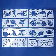 Bộ 8 Thước Vẽ Mỹ Thuật Trang Trí Sáng Tạo - Đại Dương thumbnail