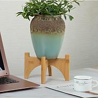 Giá kệ gỗ mini để đỡ chậu cây hoa để trong nhà hoặc ngoài trời - Gỗ tre tự nhiên thumbnail