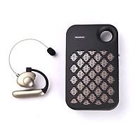 Máy trợ giảng không dây Nanfone NF-007 Wireless, Có Bluetooth Kèm theo 1 Micro ko dây cài tai hạt đậu mầu da + 1 Speaker KBS-6029 KBS-6030 FM USB TF tích hợp đèn pin siêu sáng - Hàng nhập khẩu thumbnail
