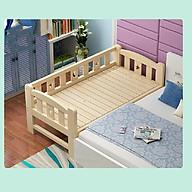 Giường ngủ, giường cũi cho trẻ em gỗ thông size 200 100 70cm quây 3 mặt thumbnail